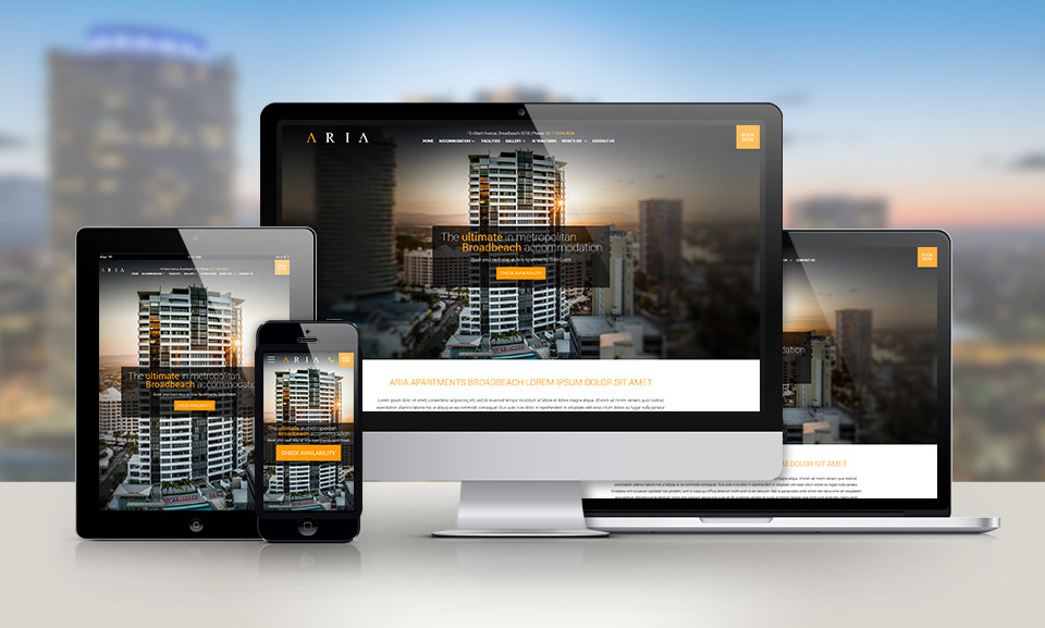 New Aria Apartments Website Launched